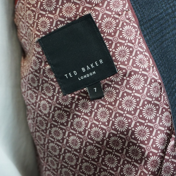 8419ad861be7a Ted Baker Blue Jacket Mens Size 7 Wool Plaid XL. M 5aa446405521be3359c1f722